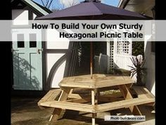 How To Build Your Own Sturdy Hexagonal Picnic Table