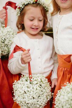 Baby's breath ball for flower girls