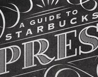 Starbucks Espresso Guide Typographic Mural by Jaymie McAmmond, via Behance