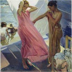 After the Bath, Valencia - Joaquin Sorolla y Bastida