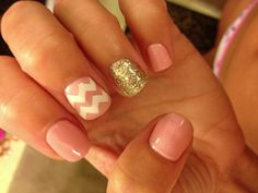 Chevron, glitter, and pink