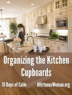Organizing the Kitchen - real life organizing for busy moms on a budget! @ AVirtuousWoman.org --- I love these ideas! #getorganized #organiz...