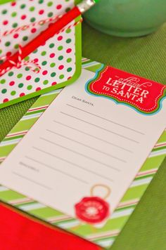 christmas card writing + letters to santa party. love this idea! see more at www.karaspartyideas.com