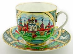 """""""Golden Ring"""" Coffee Cup and Saucer"""