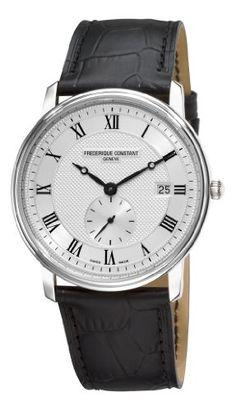 Frederique Constant Men's FC-245M5S6 Slim Line Silver Dial Roman Numerals Watch  $660.25