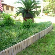 Design Craft MIllworks, 5-1/2 in. x 12 ft. Wood Lawn Grey Stained Edging, 50000 at The Home Depot - Tablet