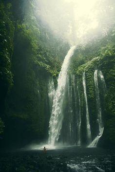 Tiu Kelep, Mt. Rinjani National Park, Lombok, Indonesia. #indonesia #waterfall #vacation #wanderlust