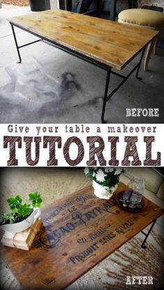 French Twist- Giving a Table a Vintage French Look! Tutorial