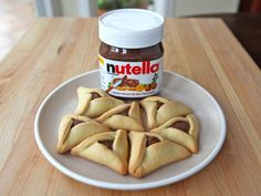 They had us at nutella. Replace the traditional jelly with nutella this year for a yummy Purim treat.