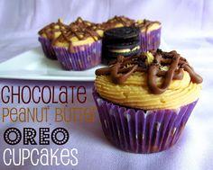Chocolate Peanut Butter Oreo Cupcakes
