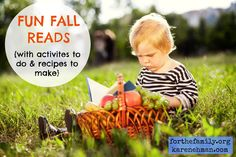 Here is a great little list of books to read aloud with your kids, some activities to accompany the stories, and recipes to enjoy together -- all with a faith-based fall theme! WE LOVE THIS!! =====>