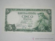 billete españa 5 pesetas 1954 sin circulacion serie h