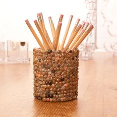 Seashells:  How to make your own tiny shell pencil cup