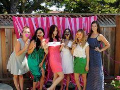 Bridal Shower Photo Booth.  #bridalshower #photobooth #wedding #bridesmaids