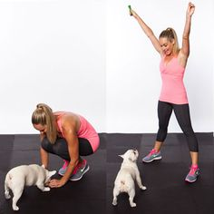 7 Moves You Can Do with Your Pet: puppy pop up jacks