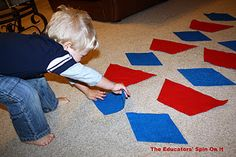 Make Your Own Giant Felt Pattern Blocks