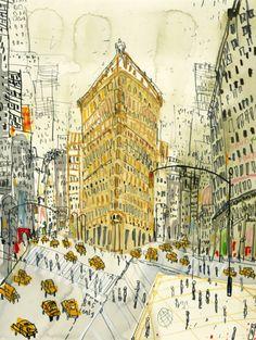 Flatiron Building, New York by Clare Caulfield