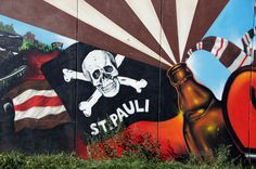 """St. Pauli"" (Martin Abegglen). Murals in Hamburg, Germany"