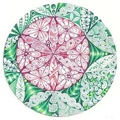 Enthusiastic Artist: Flor de la Vida ~ Margaret Bremner, Certified Zentangle Teacher