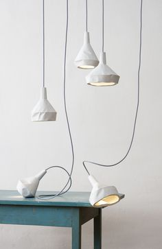 aust & amelung: like paper concrete lamp collection