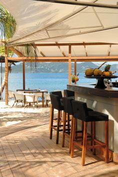 Beach bar in St. Barth
