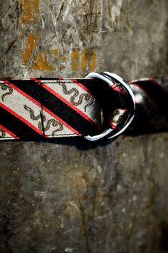 Men's Battle Flag Series - Join or Die - Preppy Belt by Buffalo Jackson Trading Co