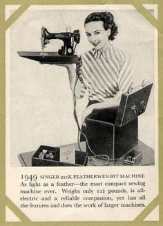 I have one of these! Singer Featherweight the best little sewing machine ever
