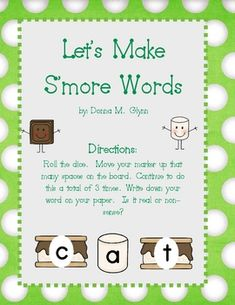 My kids love this activity.  Roll children roll the dice three times and create CVC words.  At the end they write them down on their recording shee...