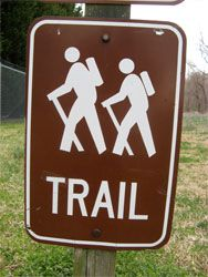Long-distance hiking trails in the US.