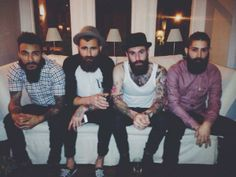 @RickiFuckinHall: Bearded glory at @laurencapulet 's dinner party last night. With @Nik Hampshire @perceval_chris and @giulioaprinph