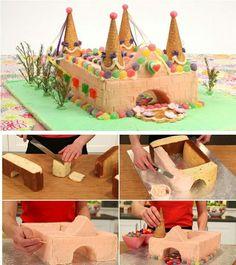 como hacer un pastel de castillo