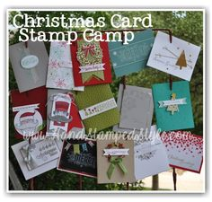 Christmas Card Stamp Camp with http://www.handstampedstyle.com simple cards to reduce stress.