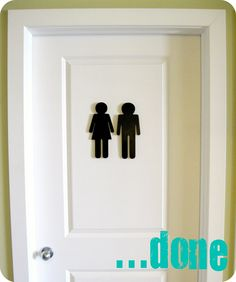 that's so cute and a good way to let guests know where the bathroom door is!