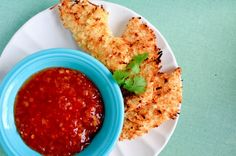 baked coconut chicken strips. I've used a similar recipe for tilapia, too, and it was so good.
