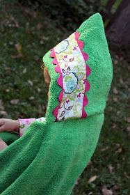 Best Hooded Towel Pattern:  The Cottage Home: Embellished Hooded Towel Tutorial