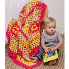Pop of Color Baby Blanket - free crochet afghan pattern for babies!