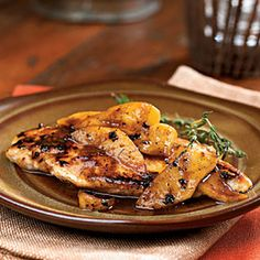 Maple-Apple Chicken Breasts | MyRecipes.com #protein #fruit #myplate