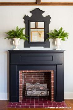 love this mantel styling