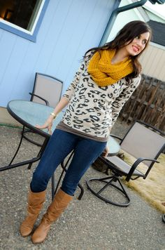 50 Winter Outfits with Leopard