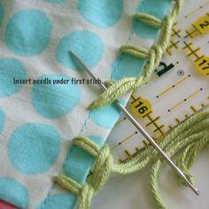 Crochet edged pillow cases Pt 3