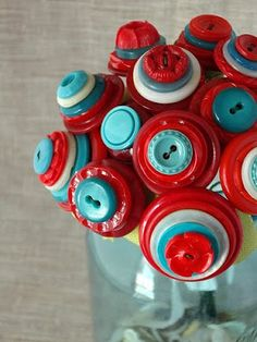 Aqua and Red buttons