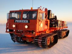 Nodwell and Foremost Pioneer tracked vehicles — Australian Antarctic Division