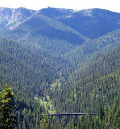 Hiawatha bike / hike trail in Idaho