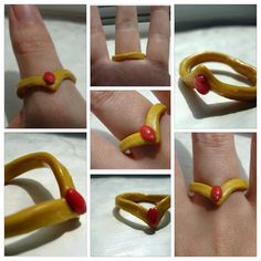 Custom sailor moon tiara rings by Hawkingbird21 on Etsy, $4.20