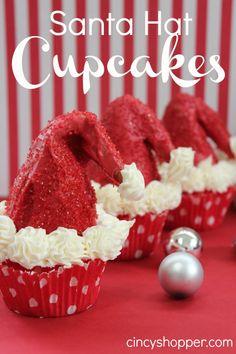 Santa-Hat-Cupcakes