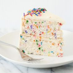 Funfetti cake. How to bake a flat cake