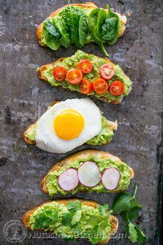 Open Faced Avocado Spread Sandwiches
