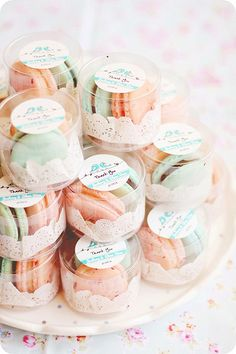 Wedding Favors. gorgeous, and we could bake them ourselves. Blueberry and Peach and Lemon, and the pale pink ones