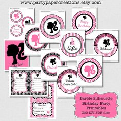 Barbie Party  Barbie Birthday Party Decor  by partypapercreations, $19.95