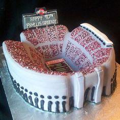 stadium cake, shoe cakes, ohio state cakes, wedding cakes, groom cake